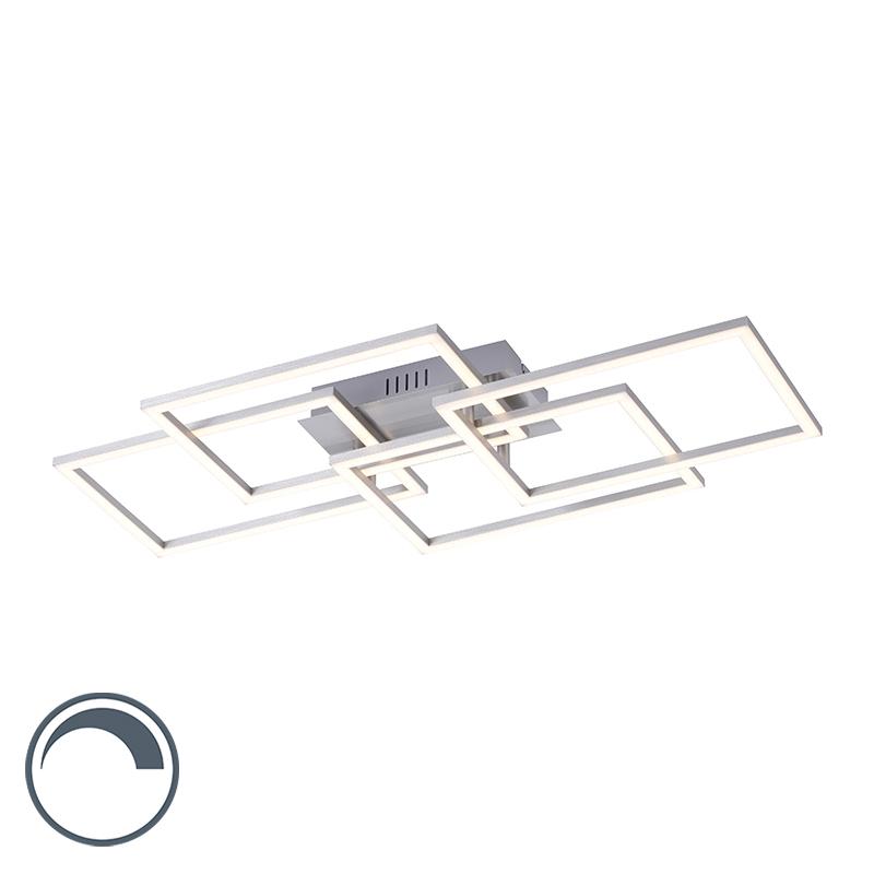 Plafondlamp staal incl. LED en dimbaar 4-lichts - Amanda