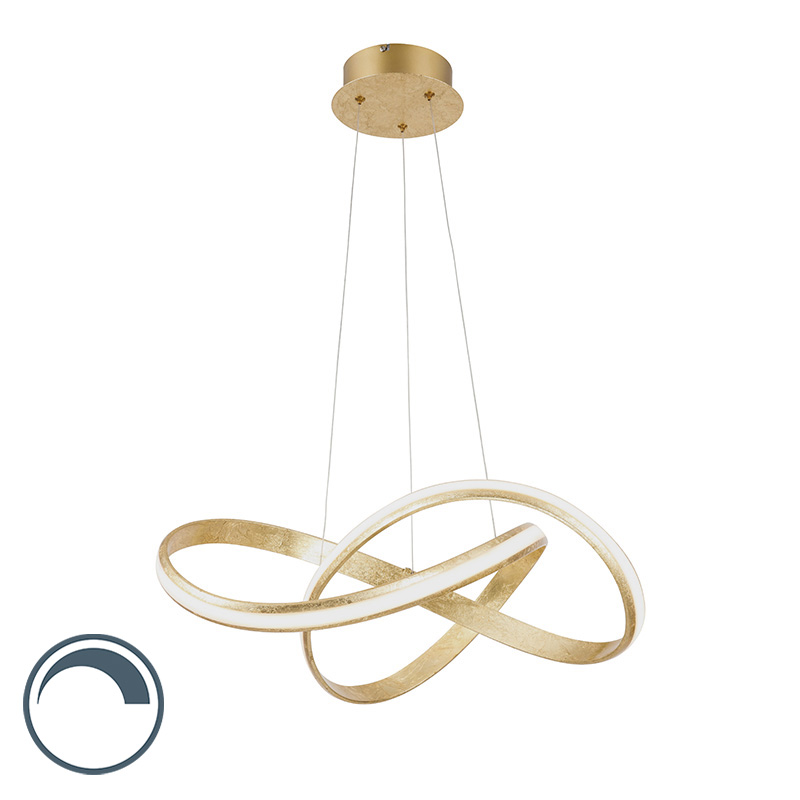 Design hanglamp goud incl. LED 60 cm - Belinda