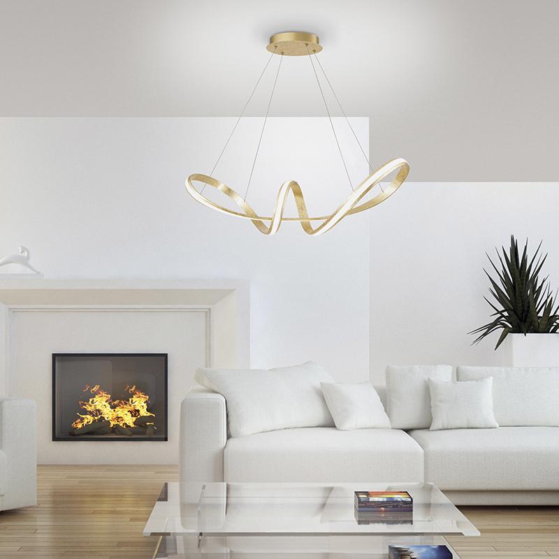 Design hanglamp goud incl. LED 80 cm - Belinda