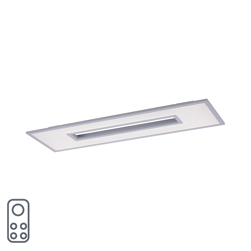 Design plafonnière wit RGB incl. LED 100 cm - Tile