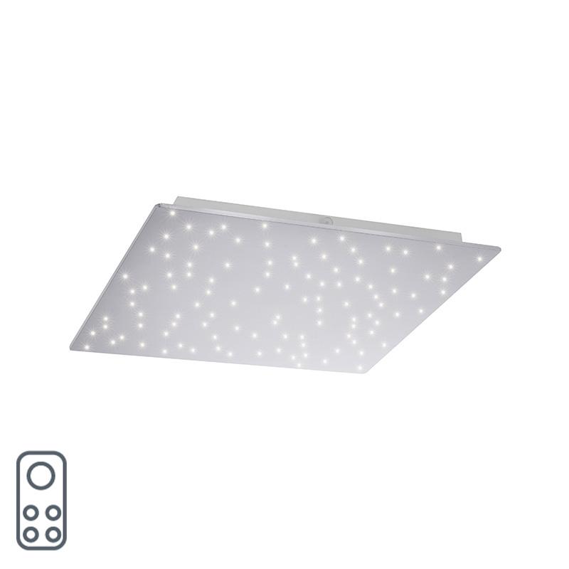 Design plafonnière wit met ster effect 45 cm incl. LED - Lucci