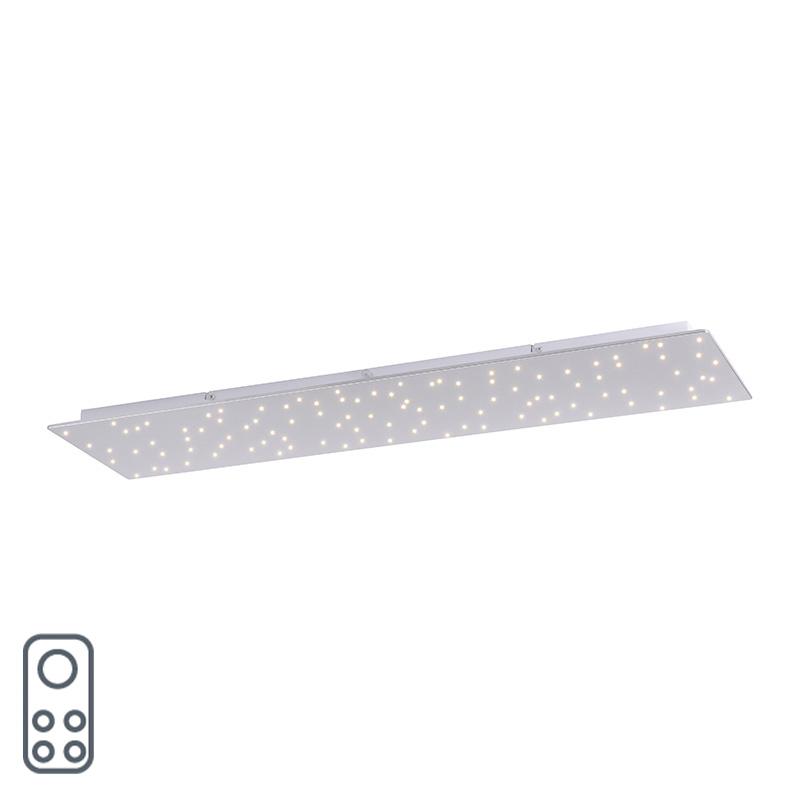 Lampa sufitowa biała 100 cm w tym LED z pilotem - Lucci