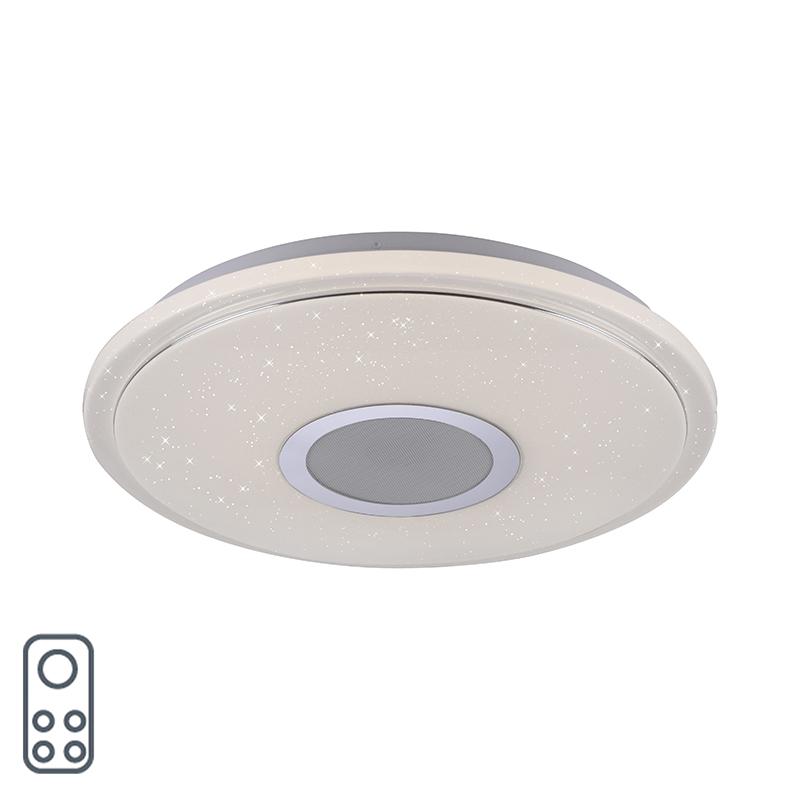 Plafonnière wit incl. LED en dimmer met afstandsbediening - Oka
