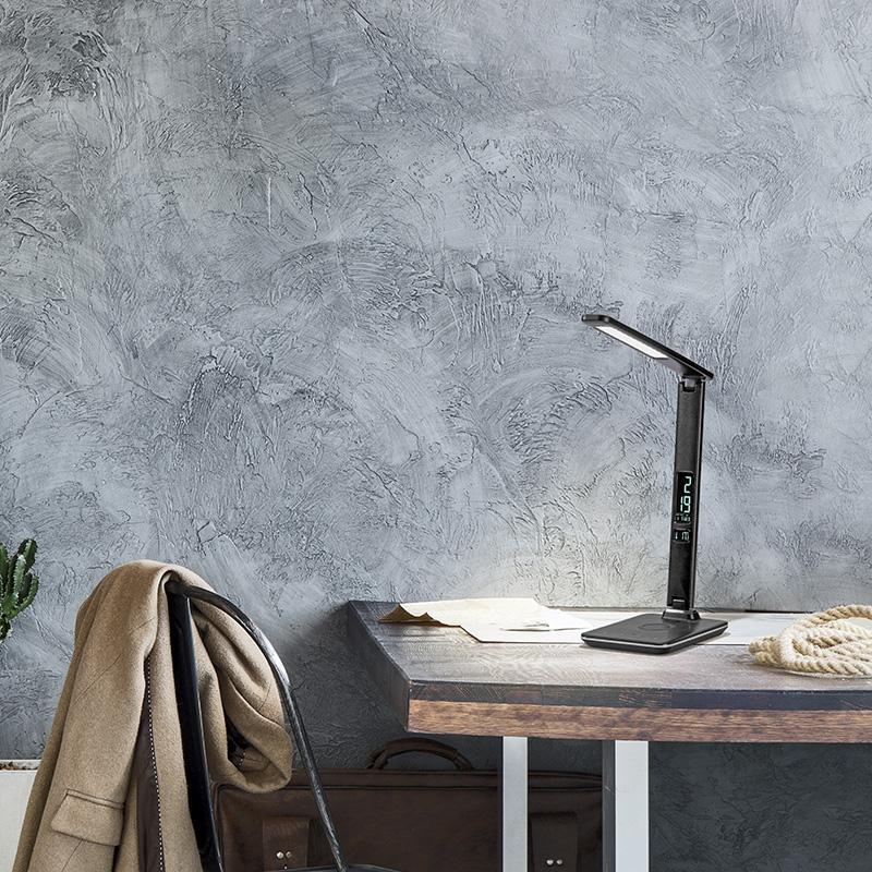 Moderne tafellamp zwart incl. LED met touch dimmer - Roel