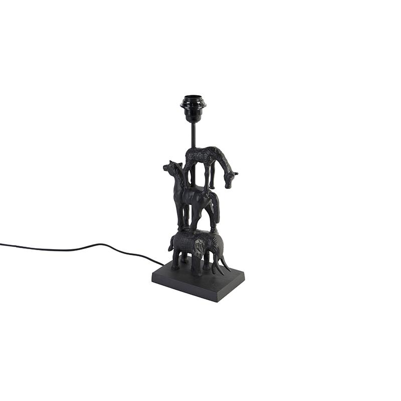 Vintage tafellamp zwart zonder kap - Animal Dier Tre
