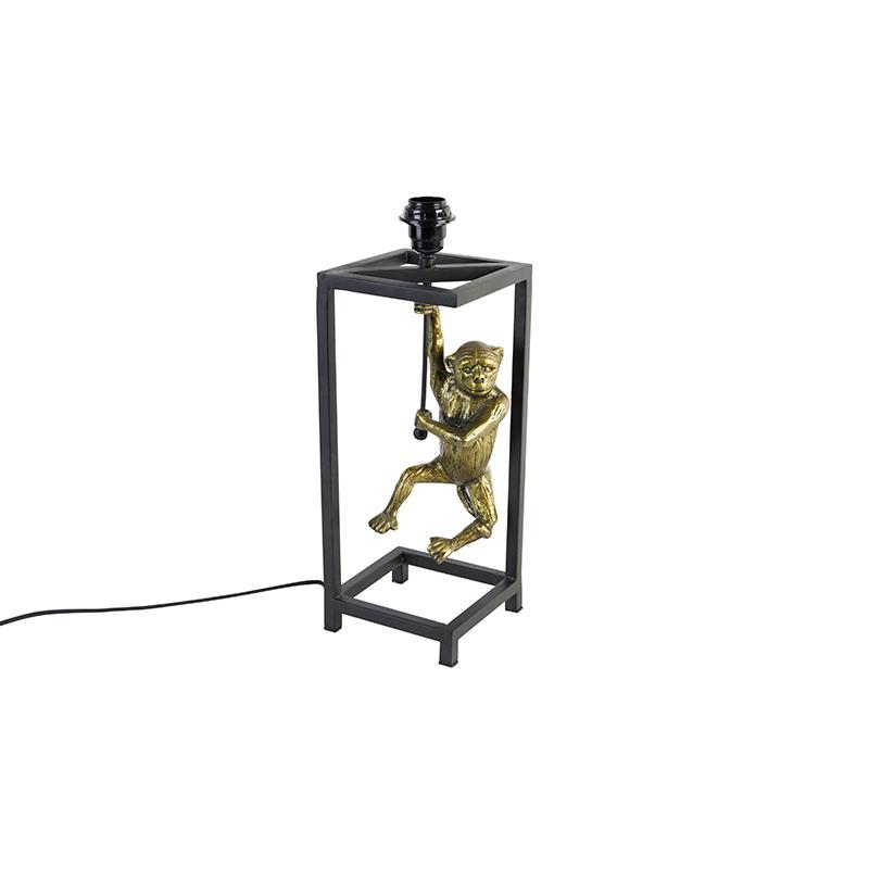 Tafellamp messing met zwart zonder kap - Animal Cage Abe
