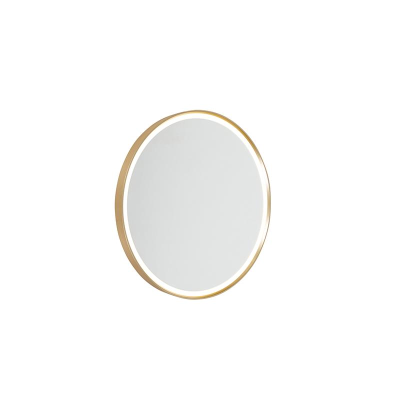 Moderne wandlamp goud incl. LED IP44 met spiegel - Miral