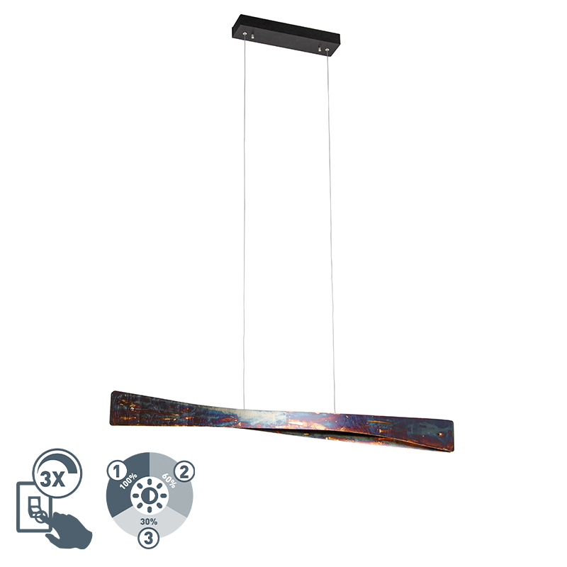 Hanglamp multicolor incl. LED 4-staps dimbaar - Sjaak