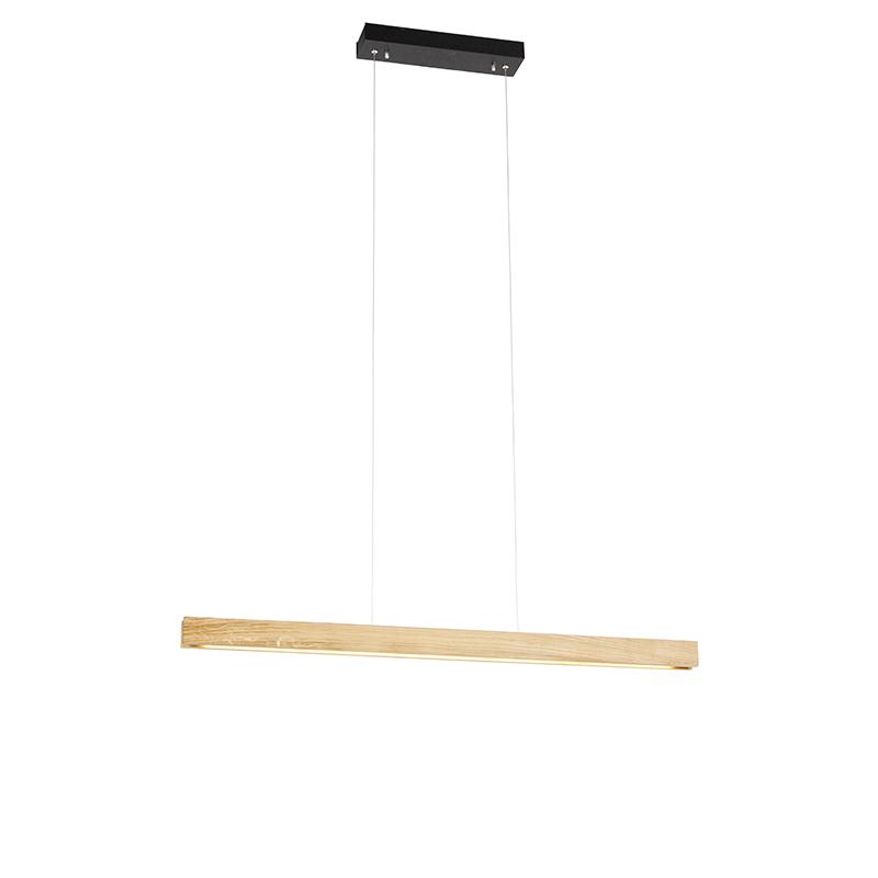 Moderne hanglamp eik 98 cm incl. LED 3-staps dimbaar - Holz
