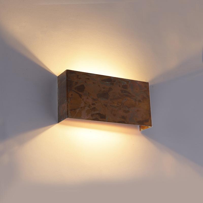 Industri�le wandlamp koper 2-lichts - Justin