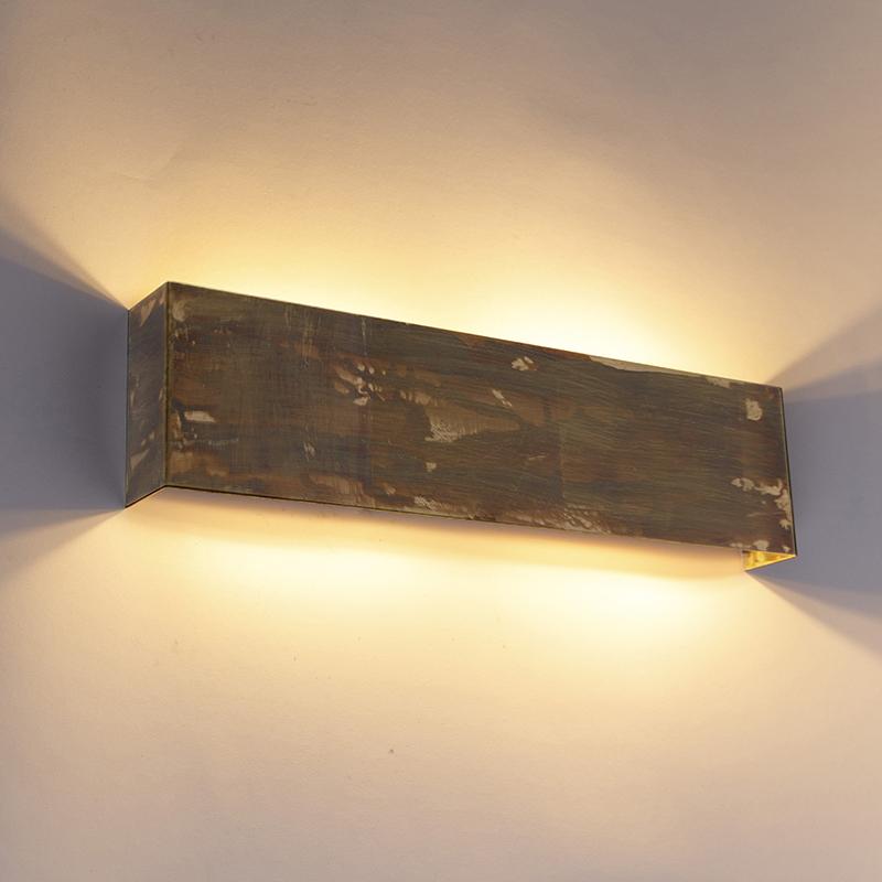 Industriële wandlamp goud 4-lichts - Justin