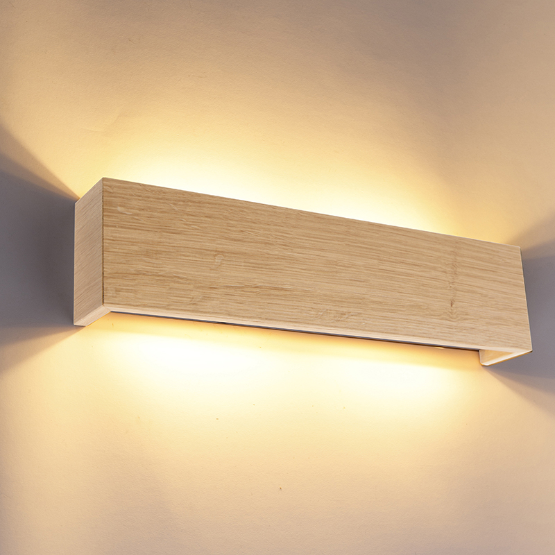 Wandlamp hout 4-lichts - Justin