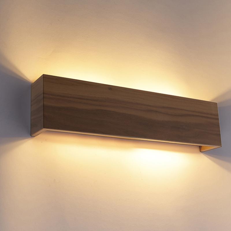 Wandlamp noten hout 4-lichts - Justin