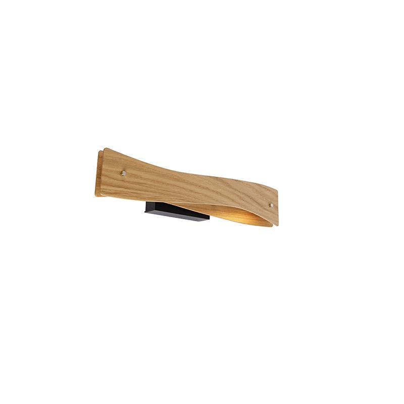 Moderne wandlamp hout incl. LED - Sjaak