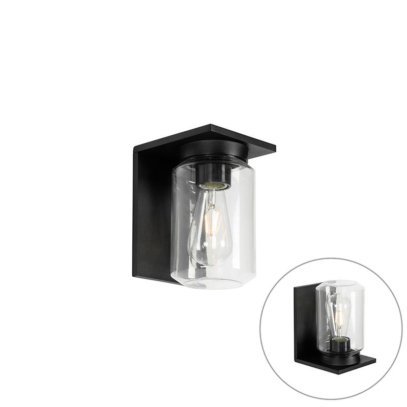 Moderní nástěnná lampa černá IP54 - Marshall