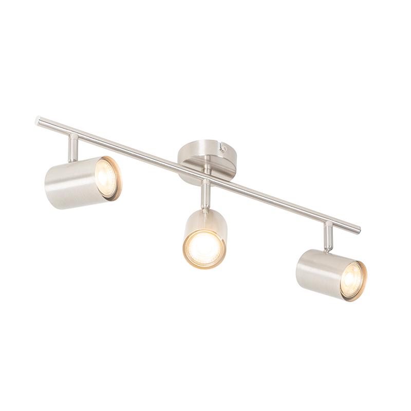 Moderne plafondlamp staal 3-lichts verstelbaar - Jeana