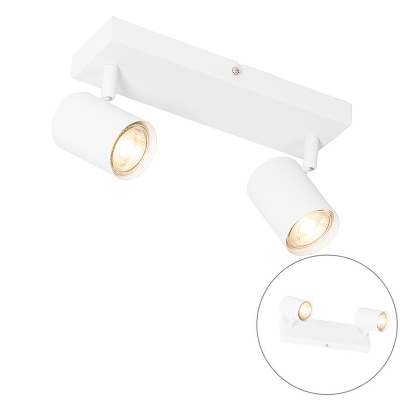 Moderne plafondlamp wit 2-lichts verstelbaar - Jeana