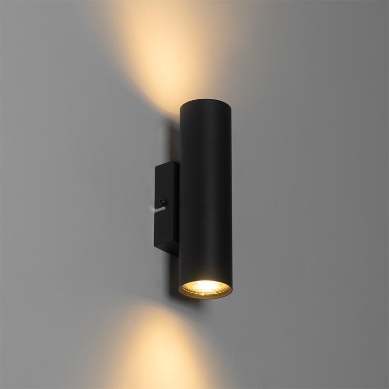 Moderne wandlamp zwart 2-lichts - Jeana