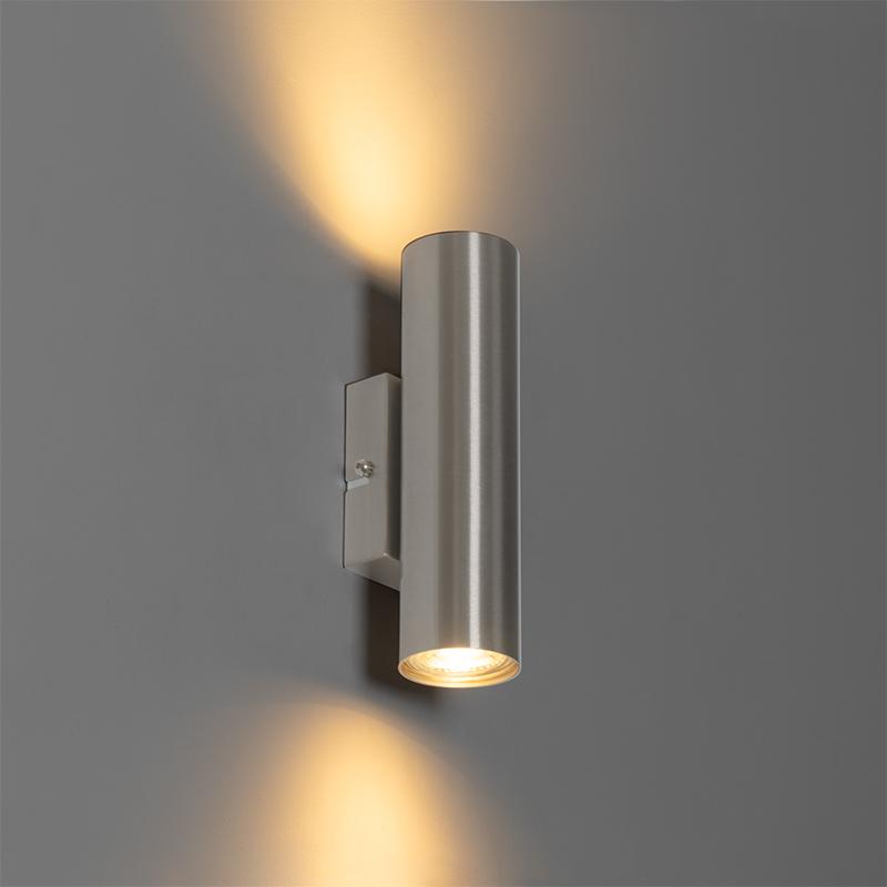 Moderne wandlamp staal 2-lichts - Jeana