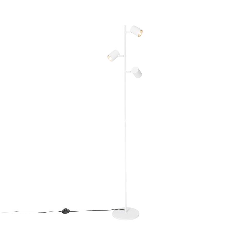 Moderne vloerlamp wit 3-lichts - Jeana