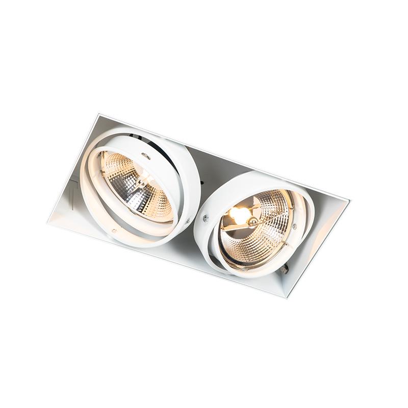Inbouwspot wit GU10 AR111 trimless 2-lichts - Oneon