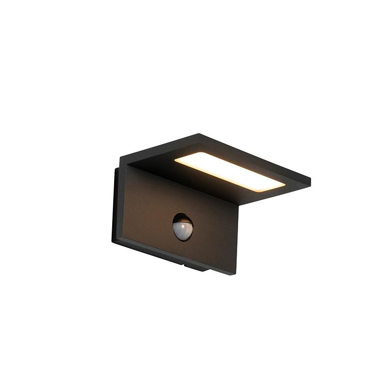 Buitenwandlamp grijs incl. LED met bewegingssensor - Harvey