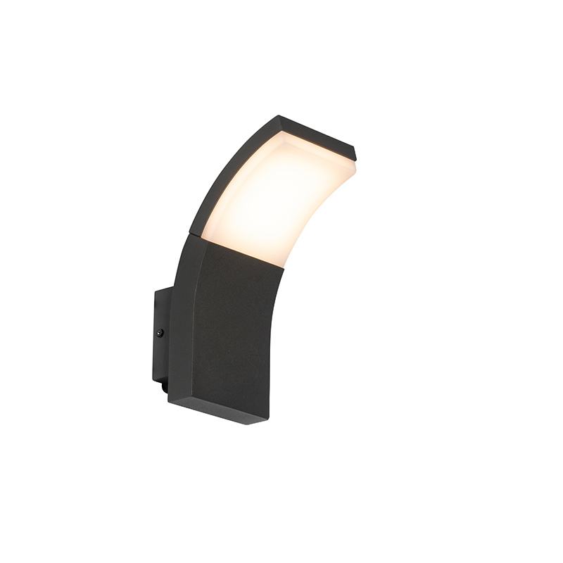 Moderne buitenwandlamp antraciet incl. LED IP54 - Litt
