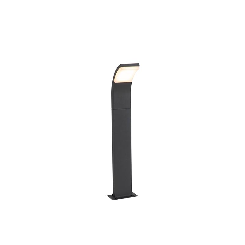 Moderne buitenpaaltje grijs incl. LED IP54 - Litt