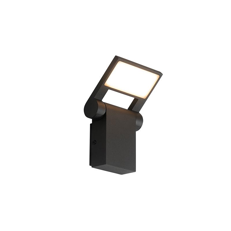 Buitenwandlamp antraciet incl. LED IP54 verstelbaar - Zane