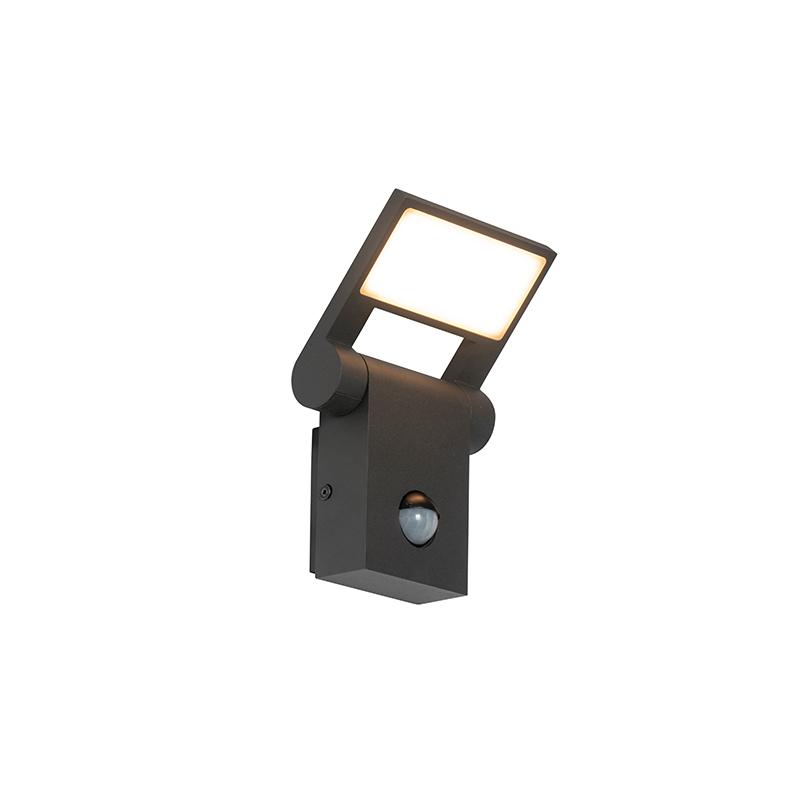 Buitenwandlamp antraciet incl. LED IP54 met bewegingssensor - Zane