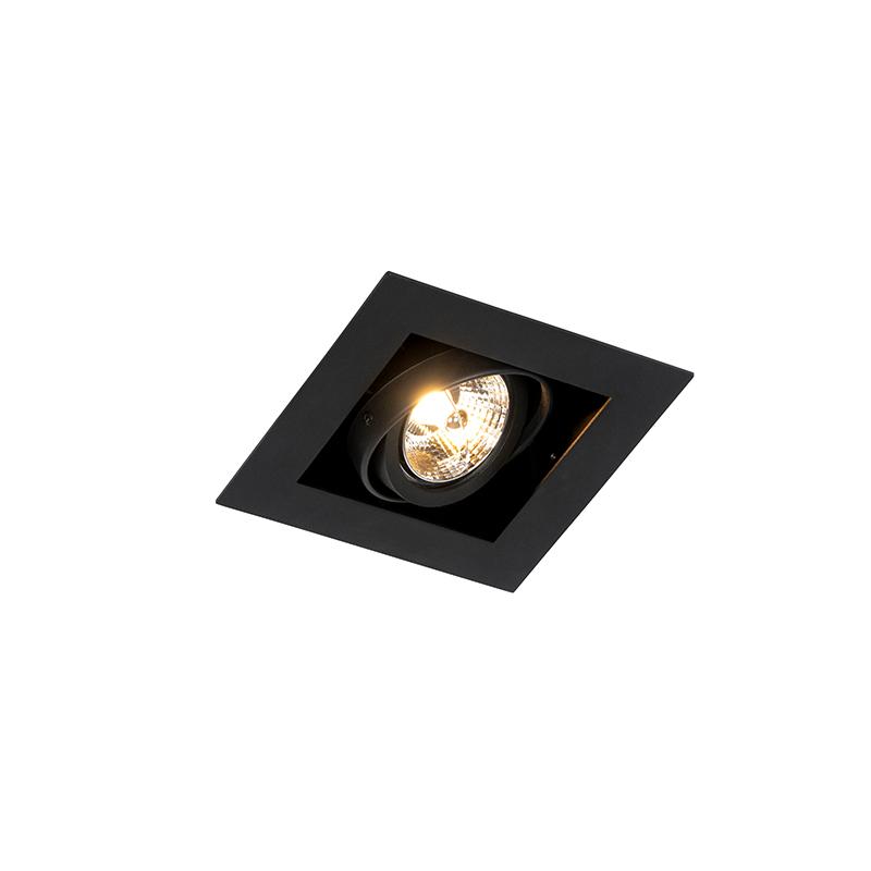 Moderne inbouwspot zwart verstelbaar - Oneon 70