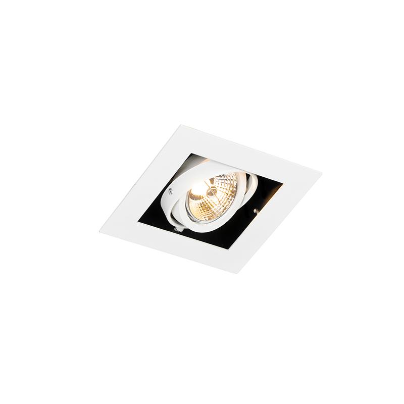 Moderne inbouwspot wit verstelbaar - Oneon 70