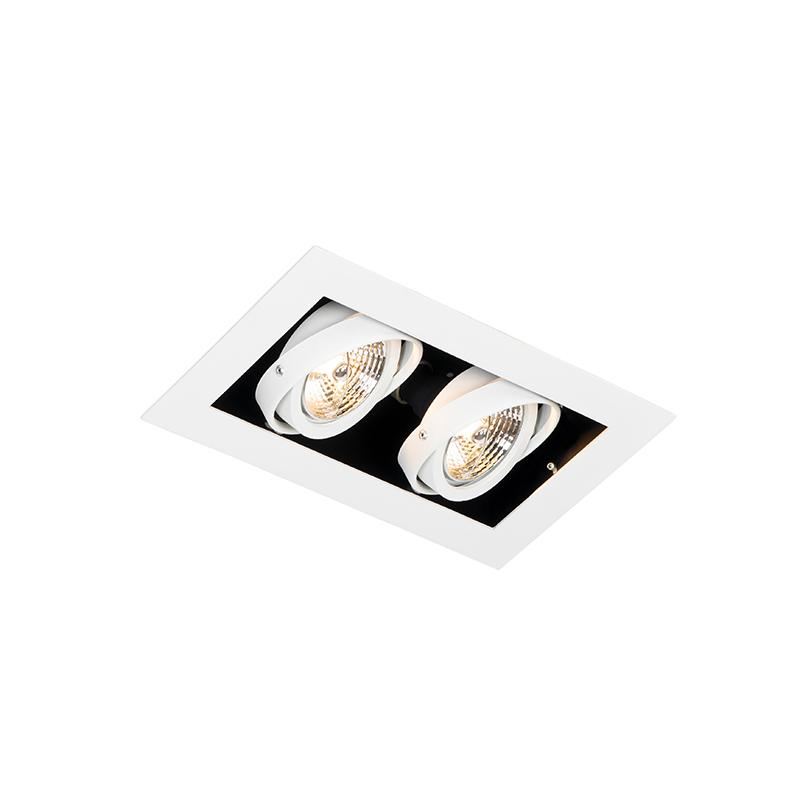 Moderne inbouwspot wit 2-lichts verstelbaar - Oneon 70