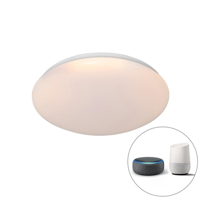 Moderne smart plafondlamp wit 38 cm incl. LED en RGB - Iene