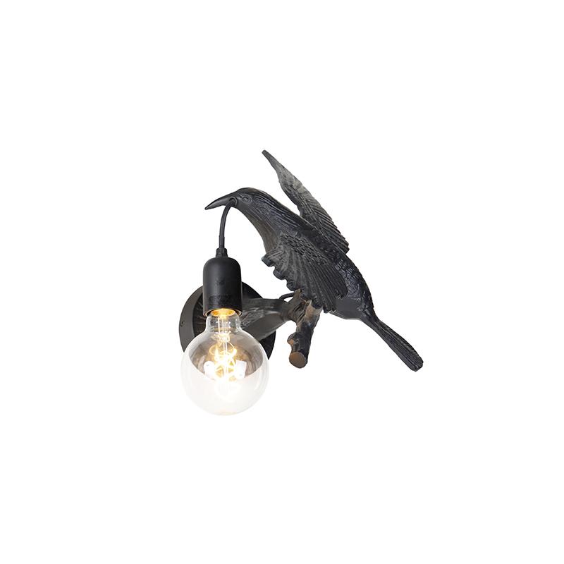 Vintage wandlamp zwart - Fugl