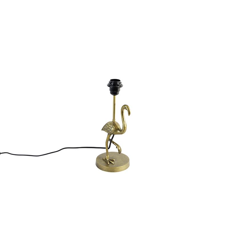 Vintage tafellamp messing - Flamingo