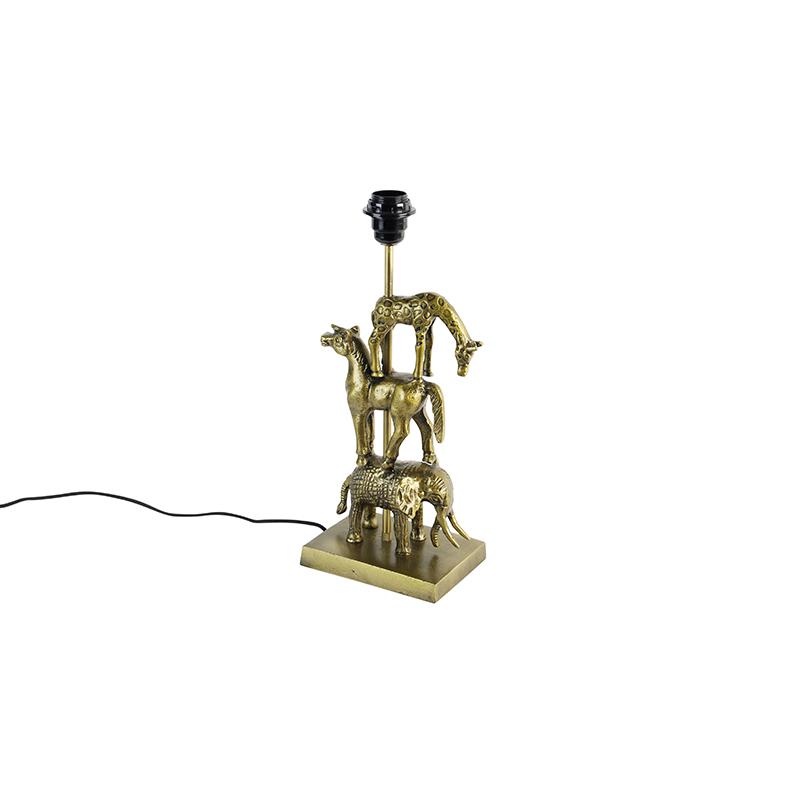 Lampa stołowa vintage mosiężna - Dier Tre