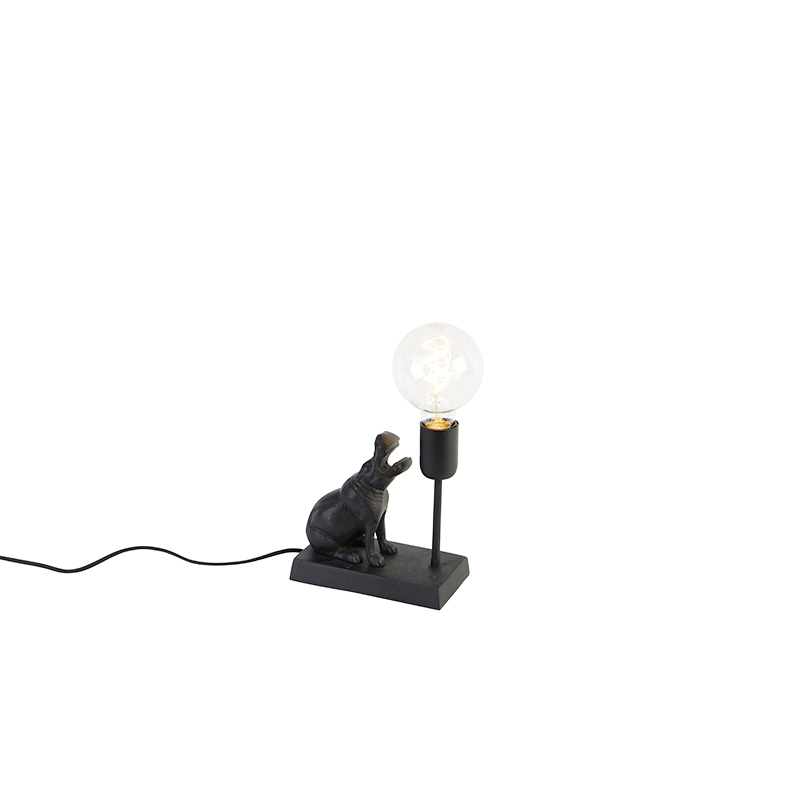Vintage tafellamp zwart - Flodhest