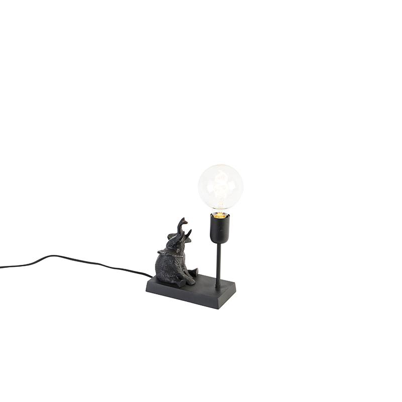 Vintage tafellamp zwart - Elefant Sidde
