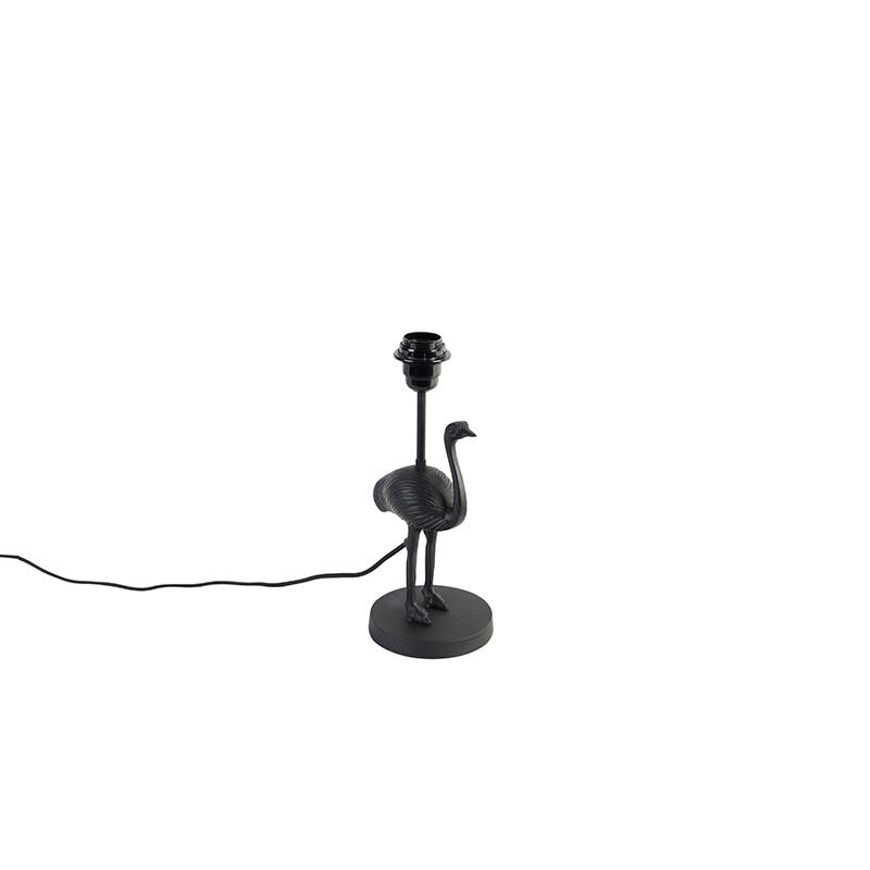 Vintage tafellamp zwart - Ostrich
