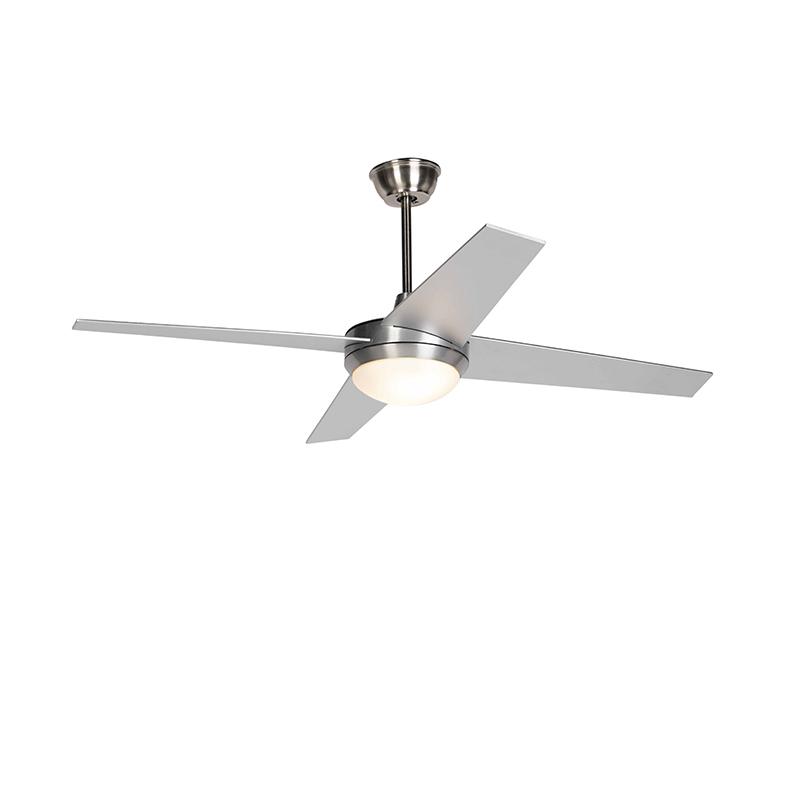Plafondventilator staal incl. LED en afstandsbediening - Roar 52