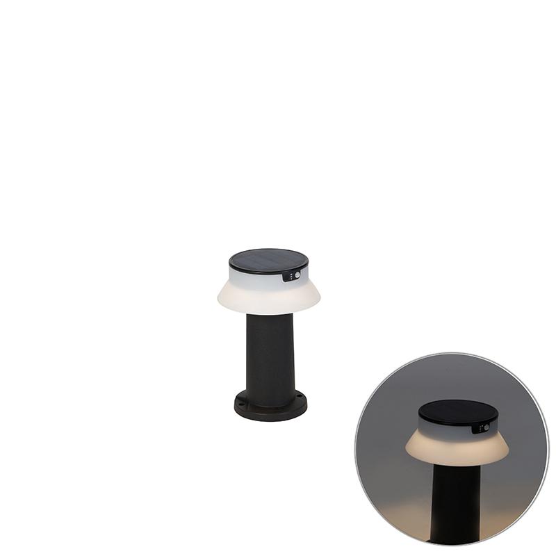 Staande buitenlamp zwart incl. LED en dimmer IP55 solar - Felice