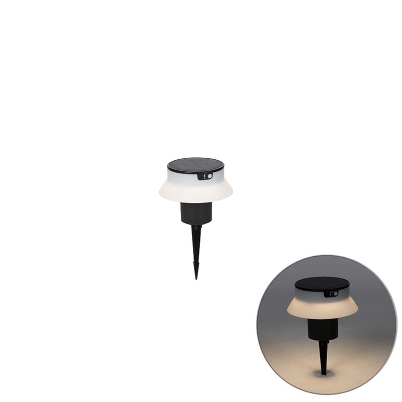 Design prikspot zwart incl. LED en dimmer IP55 solar - Felice