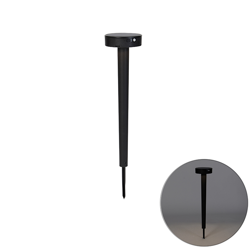 Design prikspot zwart incl. LED en dimmer IP55 solar - Fiorina