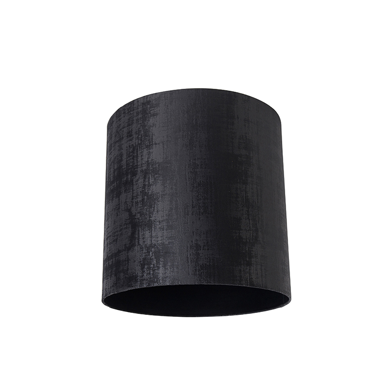 Velours lampenkap zwart 40/40/40