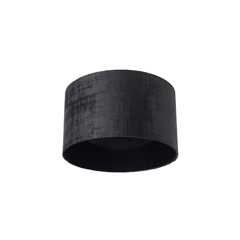 Velours lampenkap zwart 35/35/20