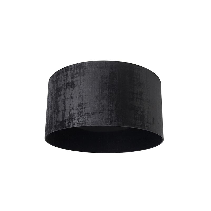Velours lampenkap zwart 50/50/25