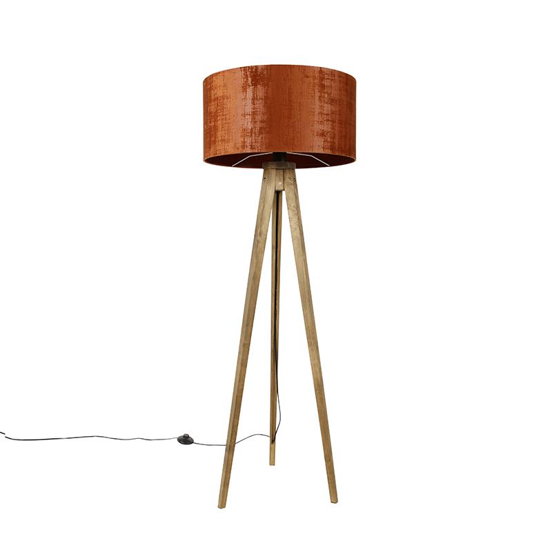 Tripod vintage hout met kap rood 50 cm - Tripod Classic
