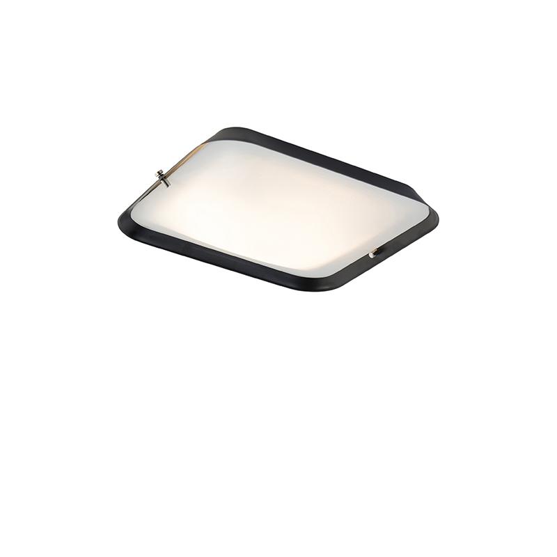 Moderne plafondlamp zwart 24,5 cm incl. LED - Edor