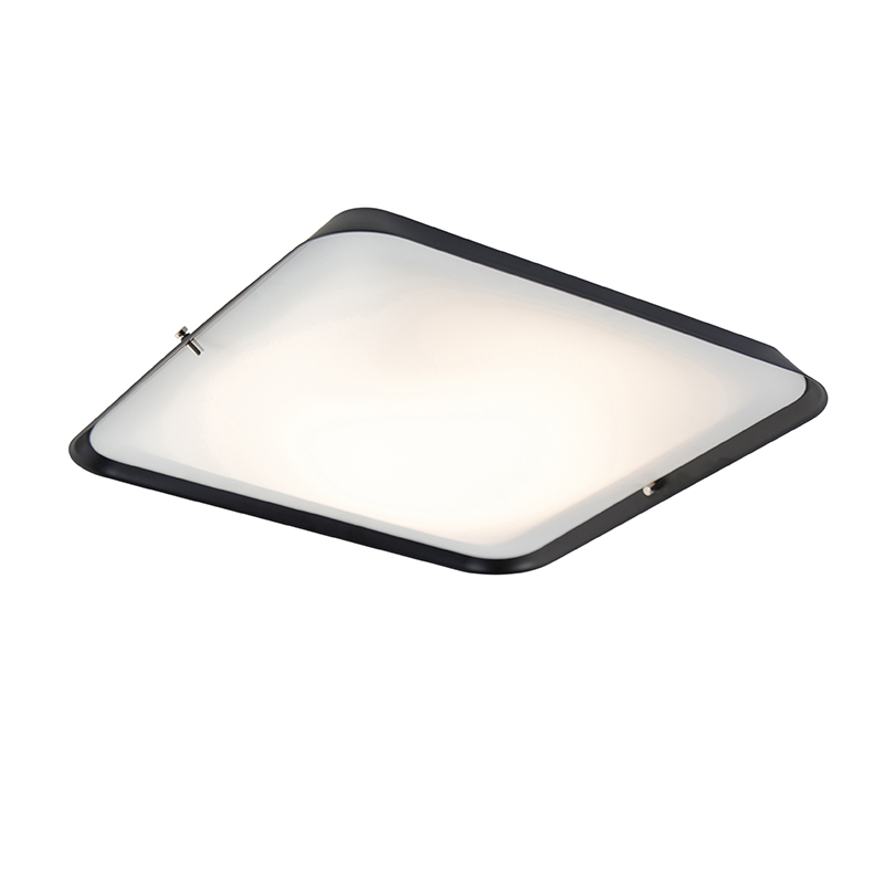 Moderne plafondlamp zwart 34,5 cm incl. LED - Edor